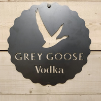 Grey Goose Vodka Sign Wall Art Beer Man Cave Hand Finished, pub bar whiskey