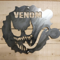 VENOM Spiderman metal Marvel Sign Wall Art Comic hand finished Man Cave