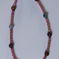 indian agate and coral pink necklace