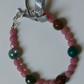 indian agate and coral pink bracelet