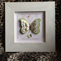 Irish Blessing Butterfly Collage