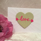Embossed & Embellished Love Heart Greeting Card for Birthday, Anniversary