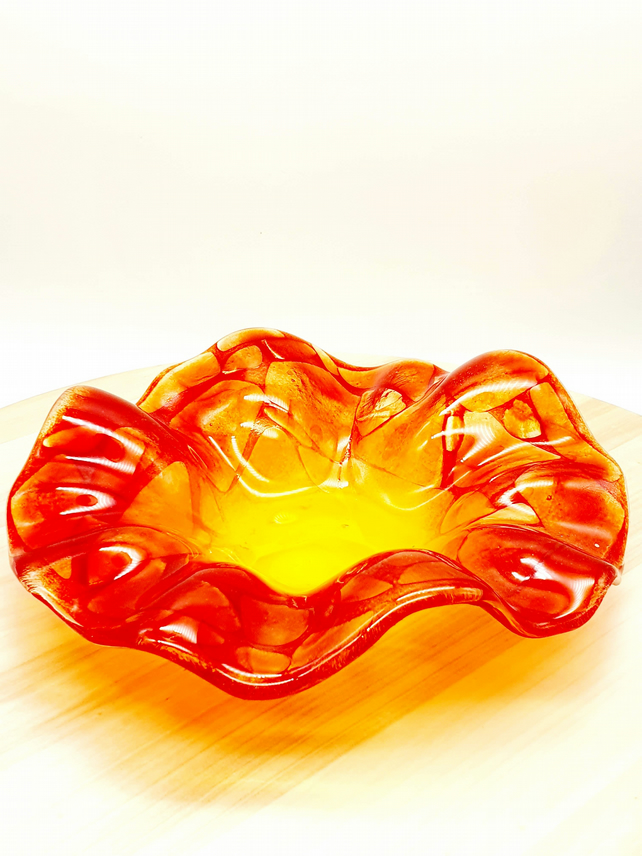 Fused Glass 'Flower'Bowl