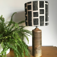 20cm Lampshade - Wood Block Printed in design Stack