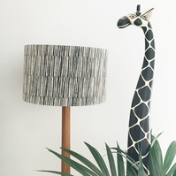 40cm Lampshade - Wood Block Printed in design Bark