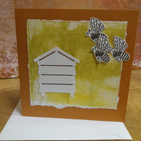 Bees and Hive Blank Card