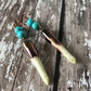 Turquoise and Bronze Spike Earrings, Turquoise Jewellery, Dangle Earrings