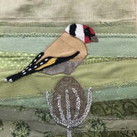 Framed Goldfinch appliqué Picture 2