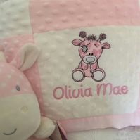 Personalised Baby Blankets Old Toy design FREE POST