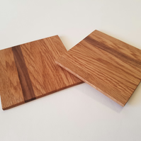 Oak and Walnut coasters