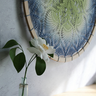 Sage Penny, modern vintage doily wall art