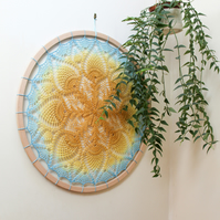 Sunshine Penny, 60cm doily hoop to bring some sunshine to your home