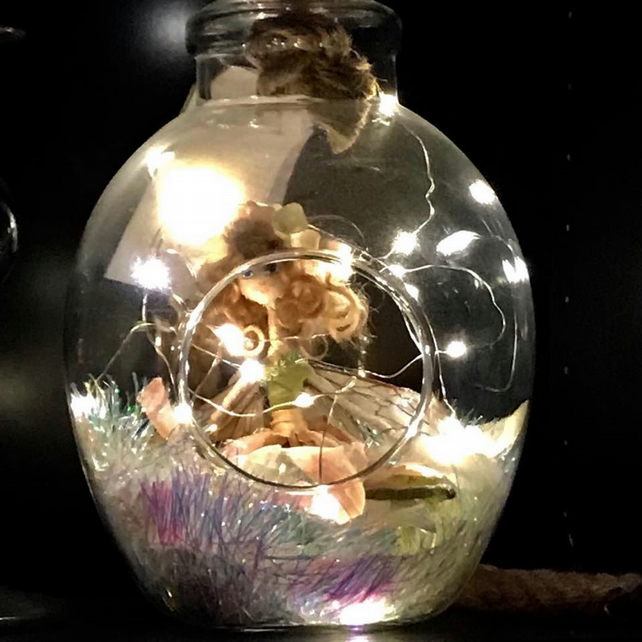 Devon Flower Faery in a Glass Terrarium