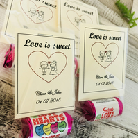 Love heart wedding favours personalised