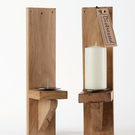 Wall candle sconce (PAIR) Pine or Oak