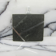 Minimalist Welsh granite necklace with sterling silver inlay