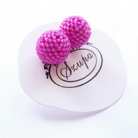Stud earrings, ball earrings, pink earrings, small earrings