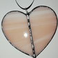 Opalescent Pink Stained Glass Heart