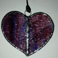 Purple Textured Stained Glass Heart