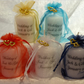Personalised Wedding Favour Candle Silver Heart