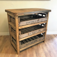 Country Style 3 Drawer Kitchen Unit