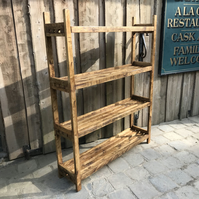 Country Style Slatted Shelving Unit