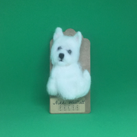 Needle Felted Westie Brooch