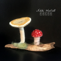 Woodland Toadstools Needle Felted Sculpture Ornament