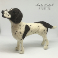 Needle Felt Pointer Dog Sculpture