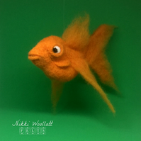 Needle Felted Goldfish (large)