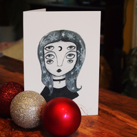 Quirky Alternative Illustrated Christmas Card