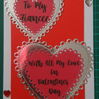 Valentines Hearts 5x7 Card