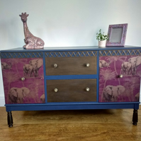 NOW SOLD upcycled Mid Century Sideboard - Cabinet - Living Room - Dining Room