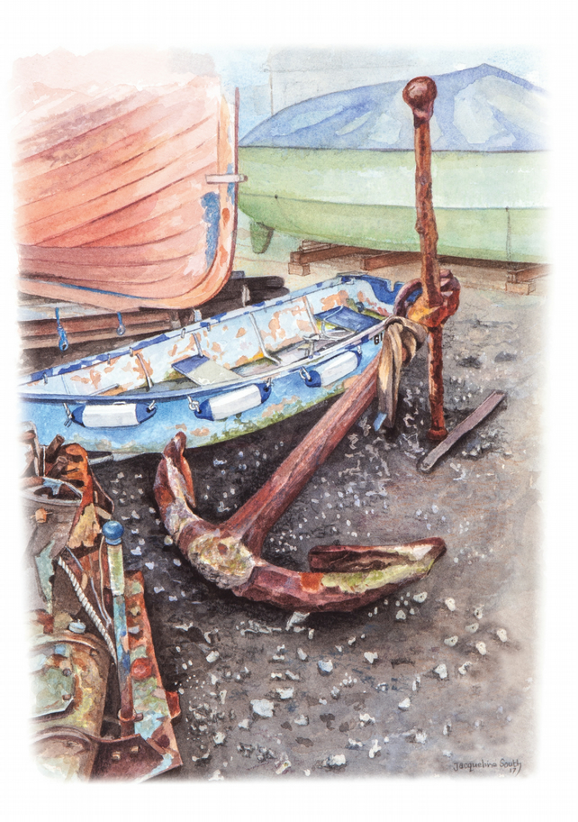 Large Anchor on Mersea Island limited edition print
