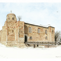 Colchester Castle, Essex limited edition print