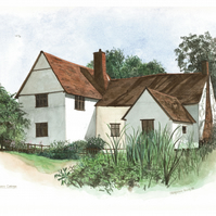 Willy Lotts Cottage, Flatford, Essex limited edition print