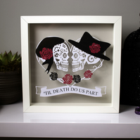 Alternative Wedding papercut gift