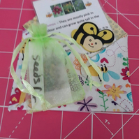 Seeds for bees envelope