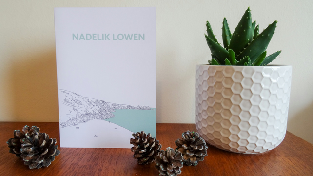 Cornish Christmas Greeting Cards - multi pack – Nadelik Lowen Cards x5
