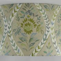 Floral lampshade in green