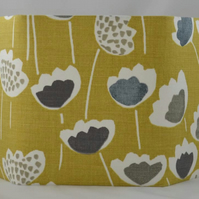 Funky flower Hexagonal lampshade in Saffron