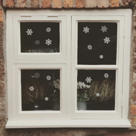 Snowflake Decor   Snowflake Window Stickers  Christmas Decor