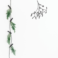 Mistletoe Christmas Decor  Mistletoe Wall Decor  Mistletoe Window Decor