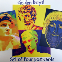 Golden Boys - Set of Four Postcards
