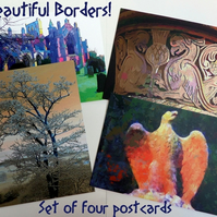 Beautiful Borders - Set of Four Postcards