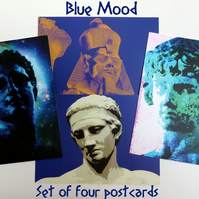 Blue Mood - Set of Four Postcards