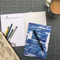 A5 notebook sketchbook made from recycled paper – sea print
