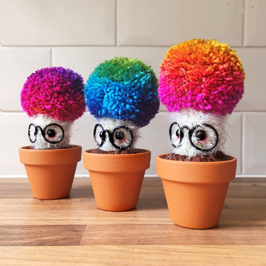 RAINBOW CACTUS: pom pom, cacti, bright, colourful, cute, kawaii, plant,
