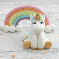 Unicorn and Rainbow Cake Toppers