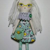 White haired doll, Daisy
